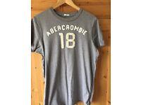 Men's Abercrombie grey tshirt XL