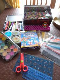CHILDREN'S CRAFT BUNDLE. Paints, balloons , wax modelling etc
