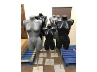 As New Fully Height Adjustable Female Mannequins £20 EACH - 8 Available