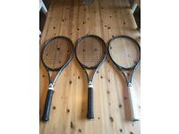 3 Angell TC95 custom tennis rackets