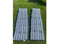 2x Coastal Sun Lounger Cushions