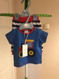 BNWT Boys Clothes Newborn Tractor Outfit