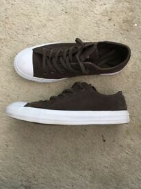 Brown Men's Converse Shoes Size 7
