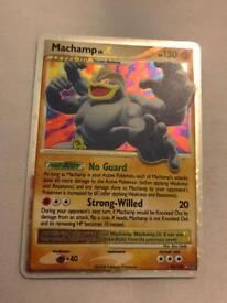 Machamp LV.X Pokemon card. Holo rare