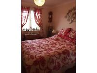King size bed set and curtains to match