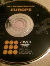 DVD navigation map English /Europe for lexus