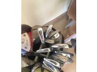 Best offer bargain: 19 golf clubs including a leather golf club bag. Accepting offers
