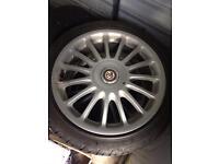 Mg zr 17 inch alloys 4 good tyres