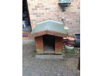 Large outside dog kennel