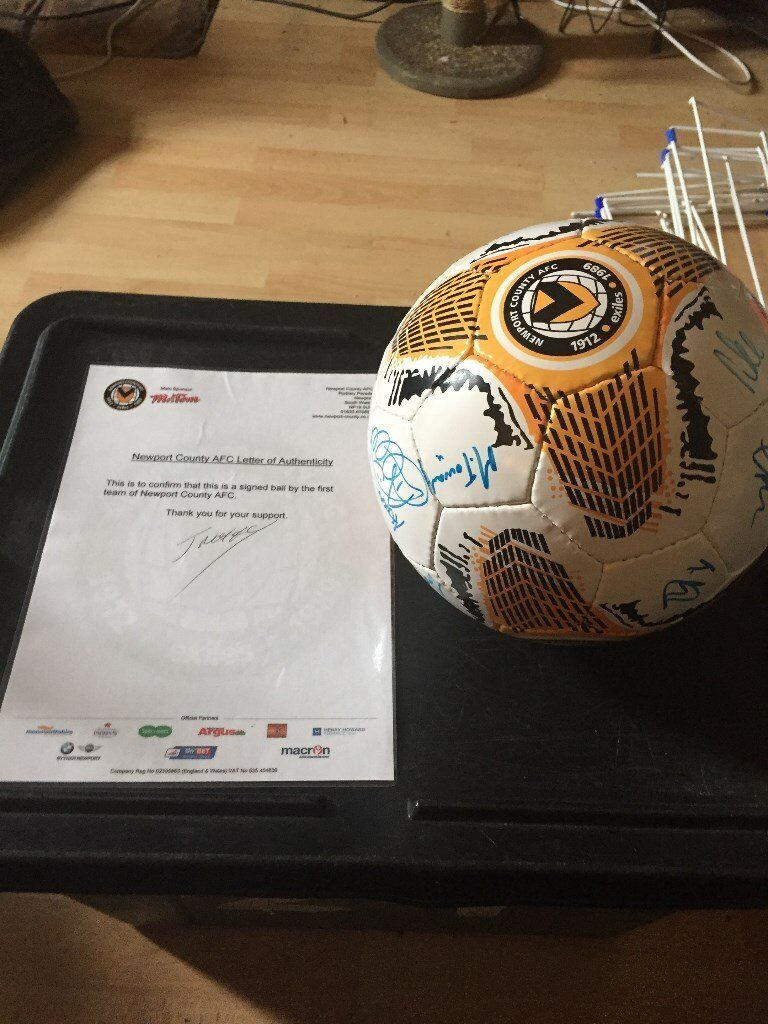 Signed Newport County Football - Charity Listing