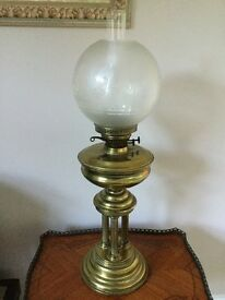 Solid Brass Antique Oil Lamp