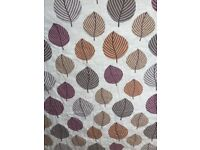 Leaf design curtains 95inch