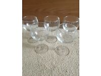 5 wine glasses