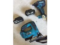 Makita brushless impact driver come with 2 x 4.0 amp batteries