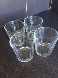 4 matching tumbler glasses