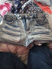 Denim shorts size 12 and 14 £4 each