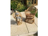 Child's & Bunny Wicker Chairs