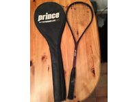 Squash Racket and Cover Prince Extender Lite 185 very light weight