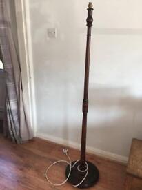 Vintage Oak Standard Lamp Base