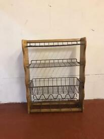 Vintage kitchen vegetable or utilities rack