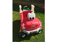 Little tikes cosy coupe fire truck ride on car