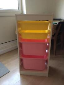 IKEA storage unit + drawers included