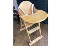 Wooden High Chair RRP £78