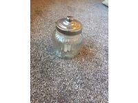 2 Ornamental Glass Jars