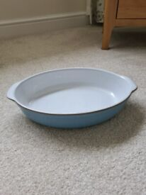 Denby Colonial Blue Oval Vegetable Dish