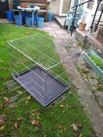 Silver Medium Dog Cage with Tray in Cornwall PL17