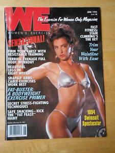 Rare WE female bodybuilding muscle exercise magazine/SWIMSUIT ISSUE 6-94