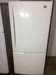 LG Gloss White Fridge With Bottom Freezer