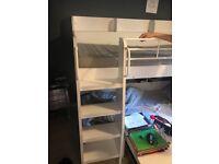 Single white wood double bunk. Full single size.