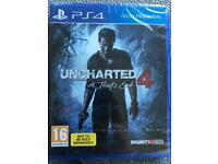 Uncharted 4: A Thief's End (new & sealed)