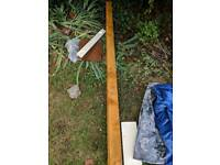 Timber fence post 100mm x 100mm thick 2.4m long