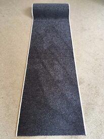 16 steps carpet stair runner 64cm x 798cm dark grey black cream edge heavy domestic bleach cleanable