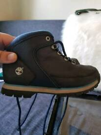 Blue timberland boots size 13