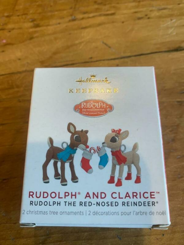 Hallmark Ornament Rudolph and Clarice the Red-Nosed Reindeer Miniature Mini 2021