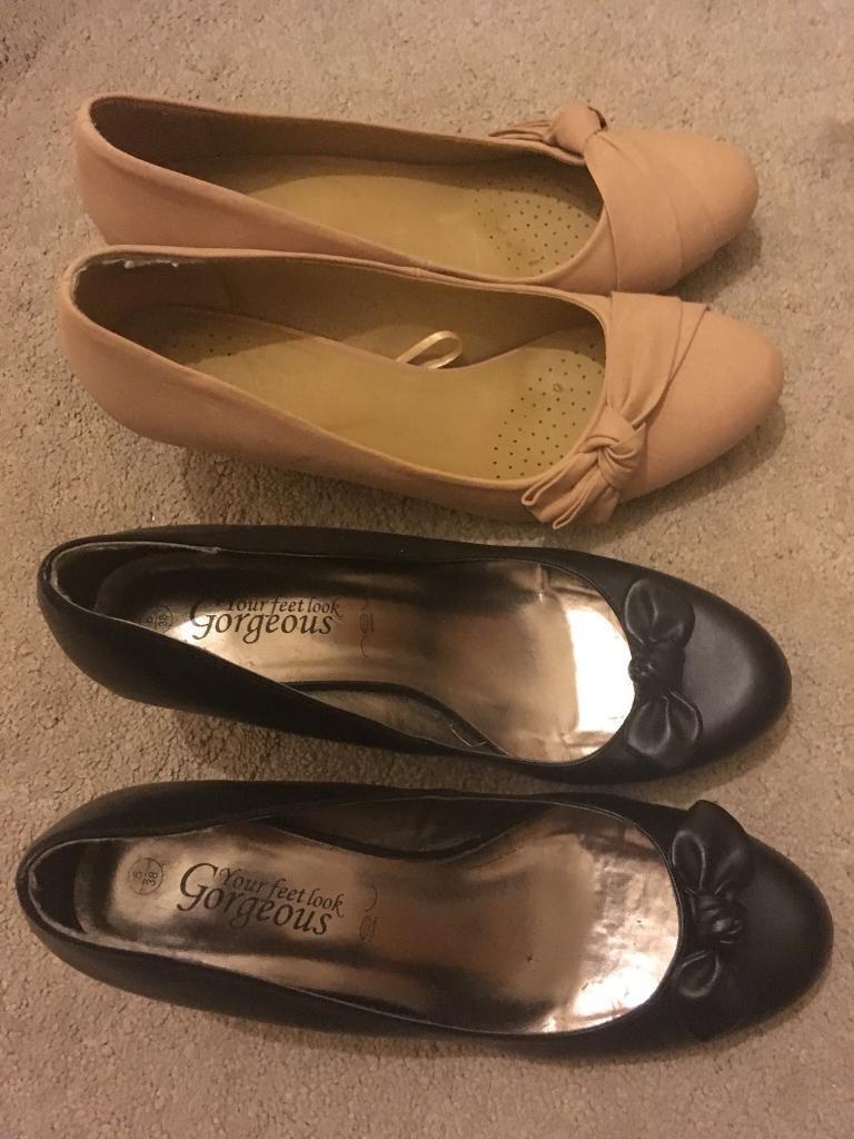 b5142f70a371 2 pairs ladies heels shoes