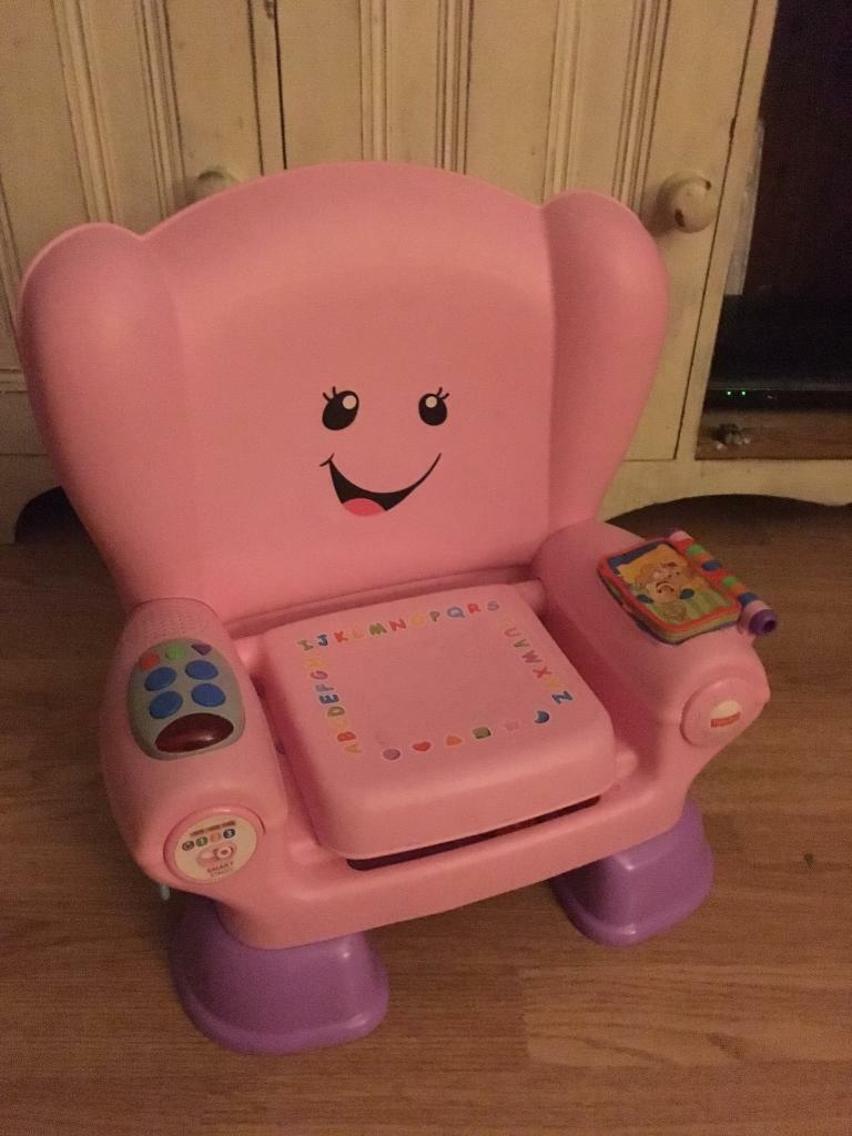 Fisher price pink laugh n learn chair