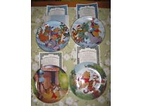 Winnie The Pooh (Disney) Fun In 100 Acre Woods Collectible Plates ltd