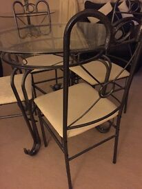Dining Table with 4 Chairs and matching Coffee table and side tables