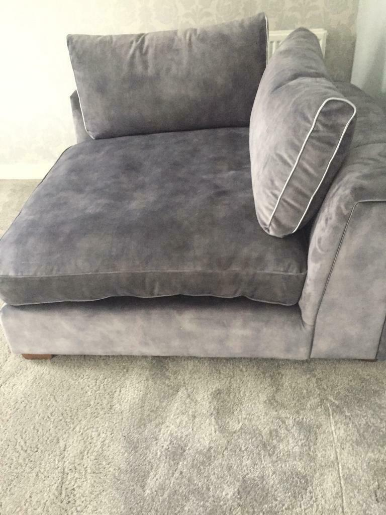 Emperor Lucerne Silver Mix Corner Sofa Chair Sofology