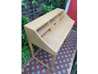 Bureau desk in light wood extendable