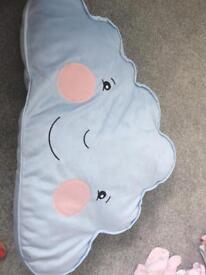 Blue cloud cushion