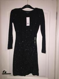 BNWT Gorgeous Black French Connection Dress Size 8