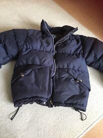 Crew Clothing Navy Blue Coat - 10-12