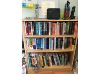 Wooden bookcase with/without books