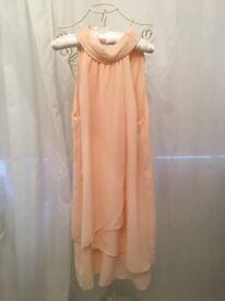 Chiffon Dress Peach