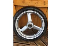 Triumph TT600 front wheel with tyre